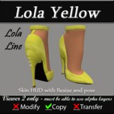 Lola Yellow Pumps - Fetish Heels