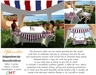 Independence day set- 4th july table, chairs, gazebo & candles