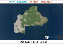 50% OFF SALE! RAW-Datei Terrain: Africa - Burkina