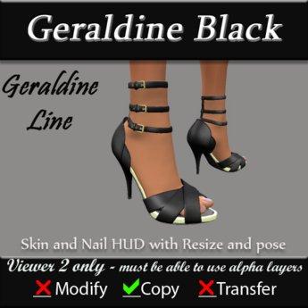 Geraldine - Black Stiletto Heels