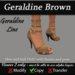 Geraldine - Brown Stiletto Heels