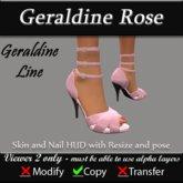 Geraldine - Rose Stiletto Heels