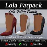 Lola Pumps - Fetish Heels - Fatpack - Red White Black