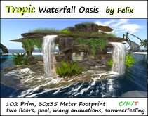 Tropic Waterfall Oasis by Felix 102 Prim 30x35m Size copy/mody