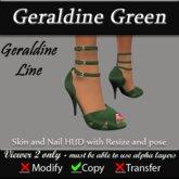 Geraldine - Green Stiletto Heels
