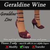 Geraldine - Wine Stiletto Heels