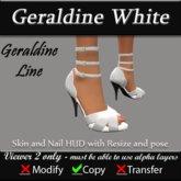 Geraldine - White Stiletto Heels