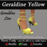 Geraldine - Yellow Stiletto Heels