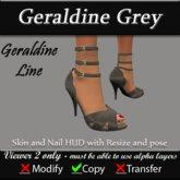 Geraldine - Grey Stiletto Heels