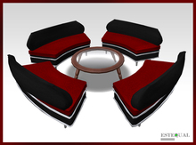 Reception Furniture Set - Lobby Seats and Coffee Table COPY/MODIFY