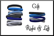 Amour Fashion - Blue Bangle Bracelets