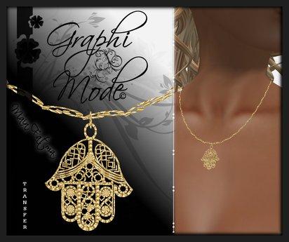Necklace Hand of Fatma Gold / Collier Main de Fatma Or