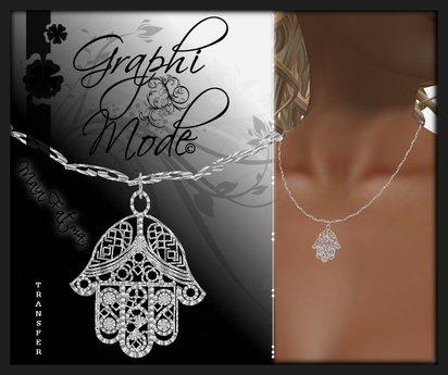 Necklace Hand of Fatma Silver / Collier Main de Fatma Argent