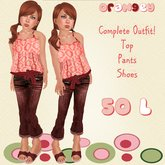*Baby Pie* Orangey Outfit! Children's Girls Complete Outfit! CLEARANCE / Promo price! 25L