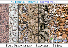 Terrain Textures: Gravel Vol. 1 - Full Permissions