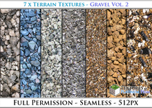 Terrain Textures: Gravel Vol. 2 - Full Permissions
