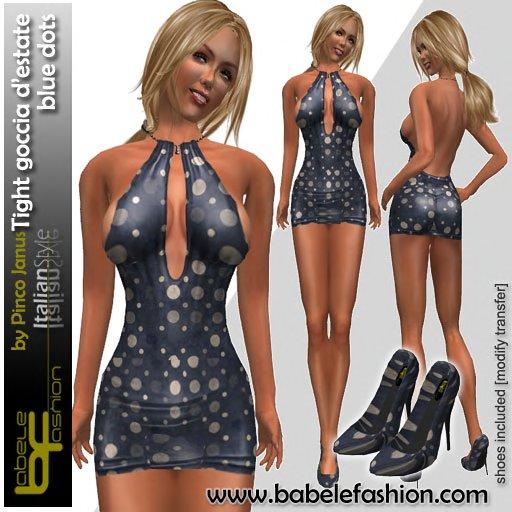 Babele Fashion Tight Goccia d'Estate Blue Dots
