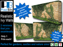 Realistic Ivy Walls - 2 Styles, 2 Colors, Samples & Textures!!