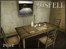 POST: Mosfell Rustic Farm Table SET