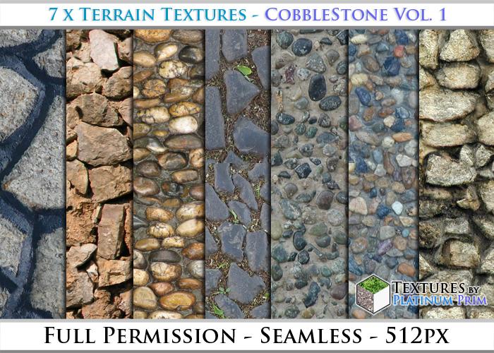 Terrain Textures: Cobblestone Vol. 1 - Full Permissions