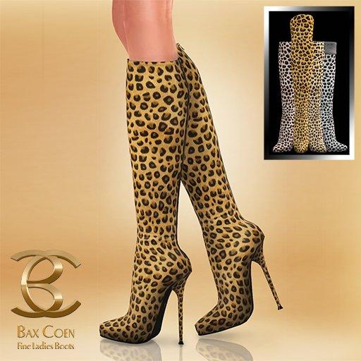 BAX Prestige Boots Leopard
