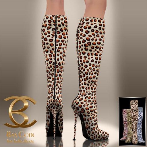 BAX Prestige Boots Vogue Leopard