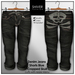 SHIVER - Denim Jeans Shorts Black Cropped SKULL