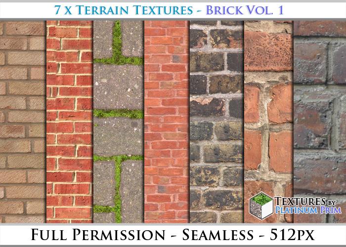 Terrain Textures: Brick Vol. 1 - Full Permissions