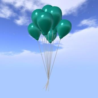 Balloon Bunch - Turquoise - COPY - Xntra City Balloons