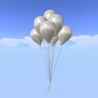 Balloon Bunch - White - COPY - Xntra City Balloons