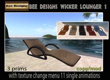 PROMO 150L OFF!! Bee Designs Wicker lounger  1