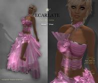 Ecarlate - Rosie - Dress Gown Formal - Pink / Robe
