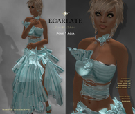 Ecarlate - Rosie - Dress Gown Formal - Aqua / Robe