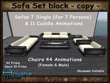 Sofa Set black Living Room - Sofa,Chair & Table - Special Offer, Sale -