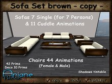 Sofa Set brown Living Room - Sofa,Chair & Table - Special Offer, Sale -