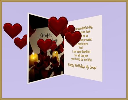 Miraculous Second Life Marketplace Fda On This Wonderful Day Birthday Personalised Birthday Cards Rectzonderlifede