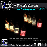 4 Simple Lamps