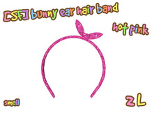 [SF] bunny ear hair band_S_hot pink