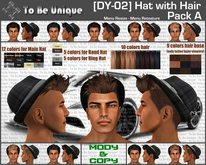 To Be Unique - [DY-02] Hat with Hair Pack A (BOX)