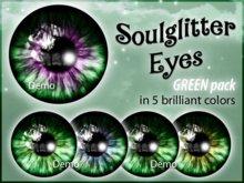 GIFT *Soulglitter* Eyes GREEN BOX