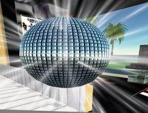 Sparkling Disco Ball With Dances