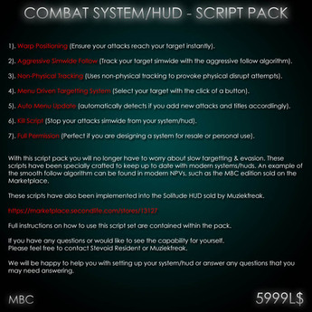 Combat HUD - Script Pack/Kit (remastered)