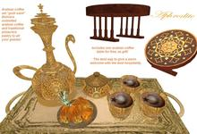 """Arabian coffee set in gold """"Golden Sands"""" (boxed)"""