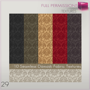%50WINTERSALE Full Perm 10 Damask Fabric Textures 29