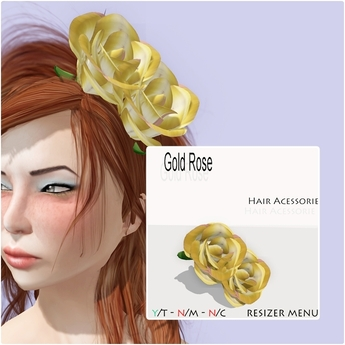 YC_Gold Rose - Hair Acessorie/BOXED