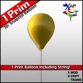 1 Prim Yellow Balloon - Transfer - Xntra City Balloons