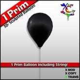 1 Prim Black Balloon - Transfer - Xntra City Balloons