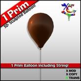1 Prim Brown Balloon - Chocolate - Transfer - Xntra City Balloons