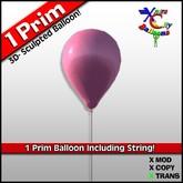 1 Prim Pink Balloon - Cotton Candy - Transfer - Xntra City Balloons