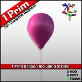 1 Prim Pink Balloon - Transfer - Xntra City Balloons